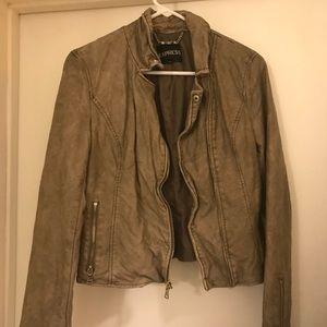 Express taupe light jacket